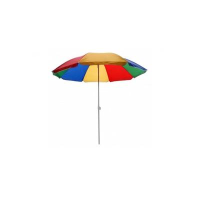 Зонт пляжный 1,6м., разноцветный (фото, вид 1)