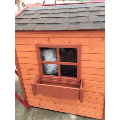 Домик деревянный с цветочницами (фото, вид 1)