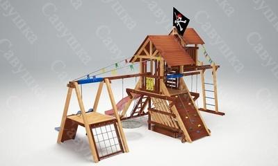 Детская площадка Савушка Lux-11 (фото, вид 2)