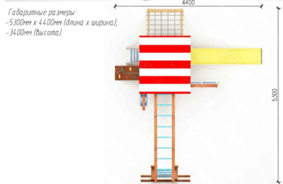 Детская площадка Савушка -10 (фото, вид 5)