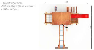 Игровой комплекс Савушка Lux - 1 (фото, вид 5)