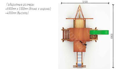 Игровой комплекс Савушка Lux - 7 (фото, вид 4)