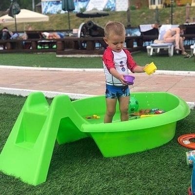 Песочница Песочница-бассейн с горкой (фото, вид 2)