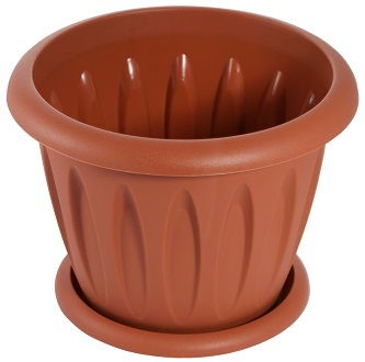 """Горшок для растений """"Фелиция"""" 10,4л Д320 с поддонником (фото, вид 1)"""