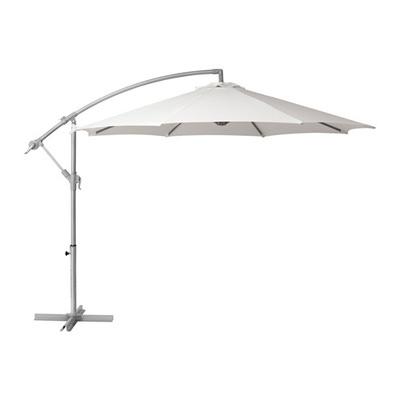 Зонт белый боковой