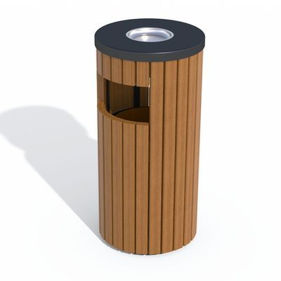 Урна деревянная с пепельницей