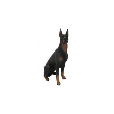 Собака доберман большой сидит В-48см