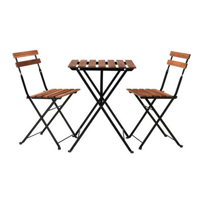 Комплект 2 стула+стол акация+металл