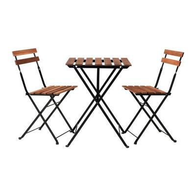 Комплект 2 стула+стол акация+металл (фото)