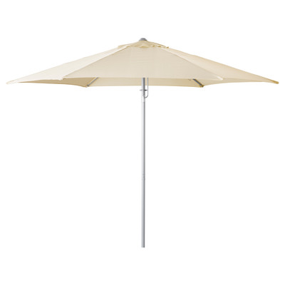 Зонт бежевый, стойка по центру, 3м
