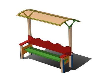 Скамейка с навесом