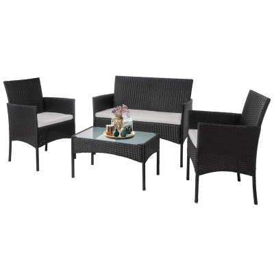 Набор мебели Доминика (стол+2кресла+диван ротанг)