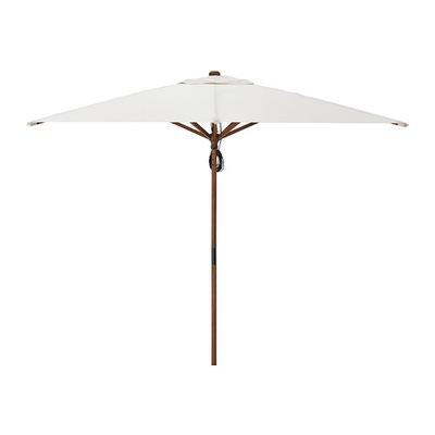 Зонт бежевый деревянный центр.