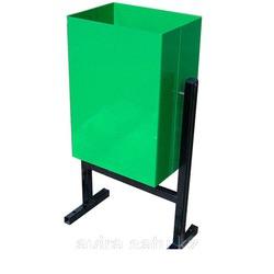 Урна зеленая квадратная