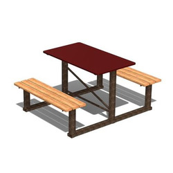 Стол со скамьями №1