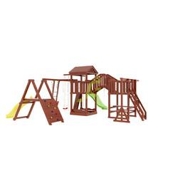Деревянная детская площадка с мостиком 2